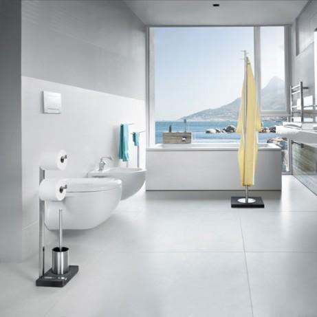 MENOTO Toilet Roll Holder & Brush